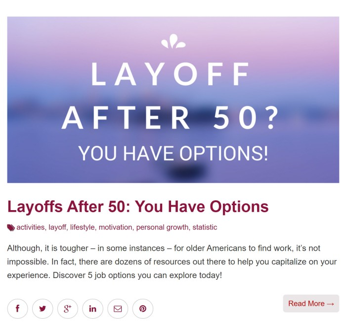 layoff after 50