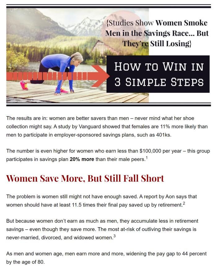 women savers 1